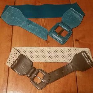 2 Wide Belts